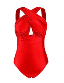 Fashion Red Crossover Swimsuit