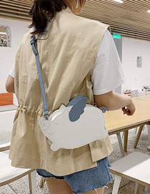 Fashion White Contrast Pu Cartoon Piglet Crossbody Bag