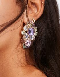 Fashion Color Geometric Flower Earrings