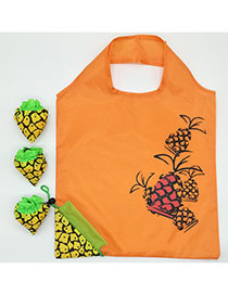 Fashion Pineapple Polyester Folded Fruit Green Bag Shopping Bag Reviews