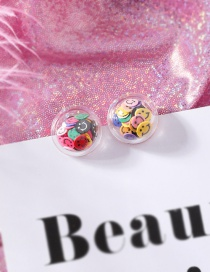 Fashion Smiley Fruit Smiley Love Transparent Ball Earrings