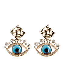 Fashion Eye Acrylic Diamond Eye Earrings
