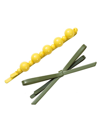 Fashion Yellow Green Drip Hair Clip Set