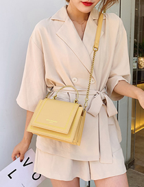 Fashion Yellow One-shoulder Chain Messenger Bag