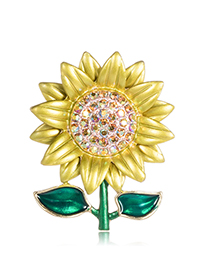 Fashion Sunflower Alloy Sunflower Brooch