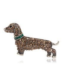 Fashion Puppy Alloy Diamond Brooch