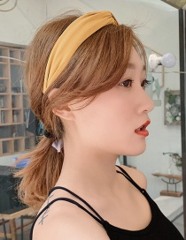 Fashion Yellow/knotted Knotted Wide-brimmed Headband