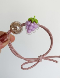 Fashion Purple Grape Fruit Hair Ring