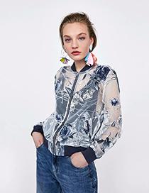 Fashion Transparent Squandering Organza Tamper Suit