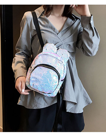 Fashion White Sequin Children's Backpack
