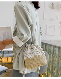 Fashion One Straw Shoulder Messenger Bag
