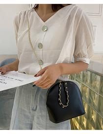 Fashion Black Shoulder Diagonal Chain Bag