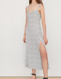 Fashion White Polka Dot Dress