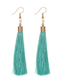 Fashion Lake Green Alloy Tassel Earrings