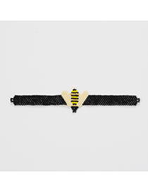 Fashion Black Bee Bead Weaving Accessories