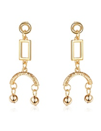 Fashion Gold Zinc Alloy Geometric Earrings