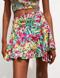Fashion Color Printed Short Skirt