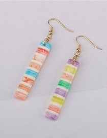 Fashion Color Striped Resin Earrings