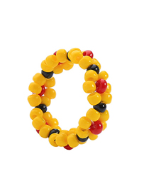 Fashion Yellow Colorful Rice Beads Ring