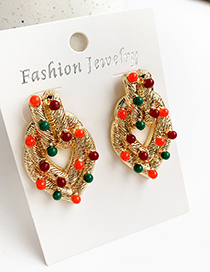 Fashion Color Alloy Colored Resin Earrings