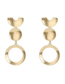 Fashion Gold Geometric Circle Earrings Accessories