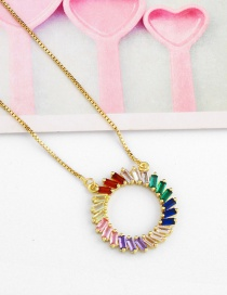 Fashion Full Circle Zircon Geometric Round Necklace
