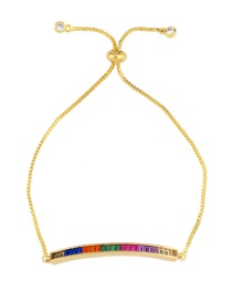 Fashion Gold Micro-inlaid Zircon Pull-out Crystal Bracelet