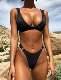 Fashion Black Pit Triangle Bag Ring Bikini