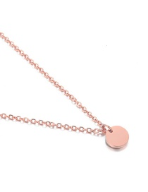 Fashion Rose Gold Stainless Steel Round Necklace