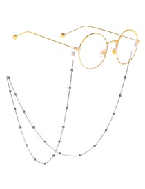 Black Beaded Glasses Chain
