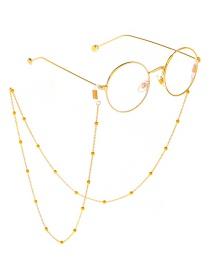 Gold Beaded Glasses Chain