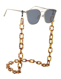 Leopard Resin Acrylic Glasses Chain