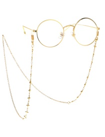 Gold Glasses Chain Necklace