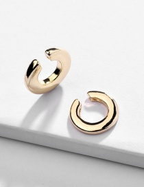 Fashion Gold Alloy Heart Stud Earrings