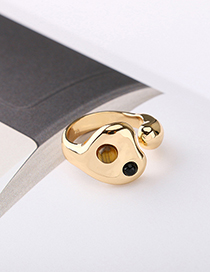 Fashion Gold Zinc Alloy Open Ring