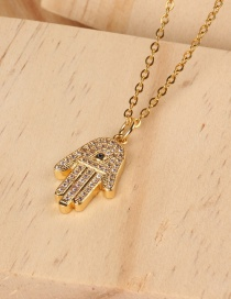 Fashion Gold Gold-plated Palm-studded Necklace