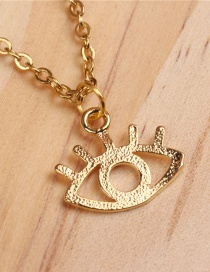 Fashion Eye Gold Titanium Steel Plated Gold Necklace