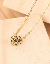 Fashion Gold Hollow Ball Football Necklace