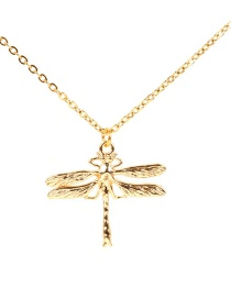 Fashion Gold Stainless Steel Enamel Animal Necklace