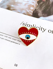 Fashion Red Love Eyes Alloy Love Eye Ring