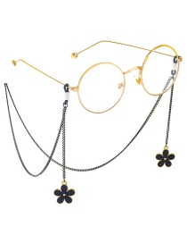 Fashion Black Hanging Neck Double-sided Plum Blossoms Faded Chain Glasses Chain