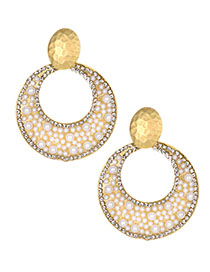 Fashion Round Hollow Alloy Stud Earrings