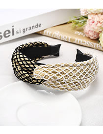Fashion Color Braided Lafite Knotted Cross Headband