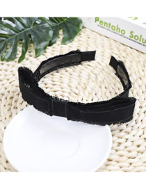 Fashion Black Cloth Edging Fringe With Toothed Headband