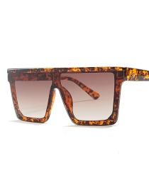 Fashion Amber Box Double Tea Square Big Box Sunglasses