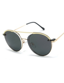 Fashion Gold Frame Multi-purpose Metal Magnetic Mirror Sunglasses