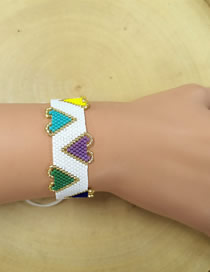 Fashion Blue + White Love Braided Bracelet