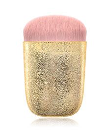 Fashion Frosted Gold Single Flat Head Makeup Brush