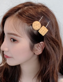 Fashion Square Cookie Hair Clip Biscuit Hair Clip