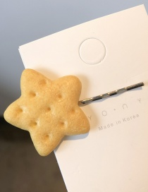 Fashion Star Cookies Hair Clips Biscuit Hair Clip